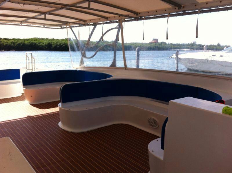 contoy boat interior