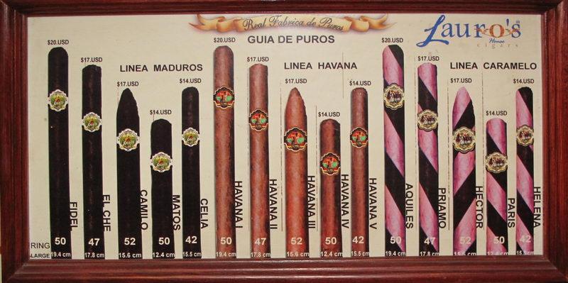 Lauros cigars list