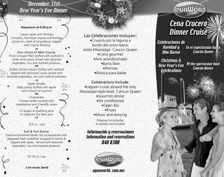 New year dinner cruise at Cancun lagoon