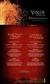 New years eve Mayan Dinner Yaxche Playa del Carmen