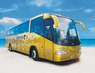 Private BUS transfer for groups airport Chichen Tulum Xcaret