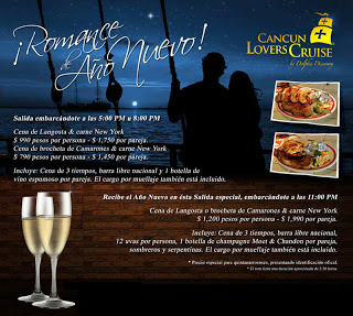 Romantic dinner cruise at lagoon