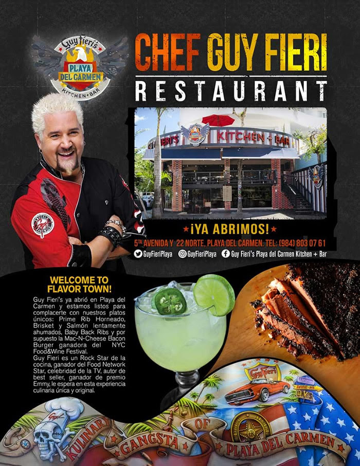 Guy Fieri's Restaurant Bar Playa del Carmen Kitchen